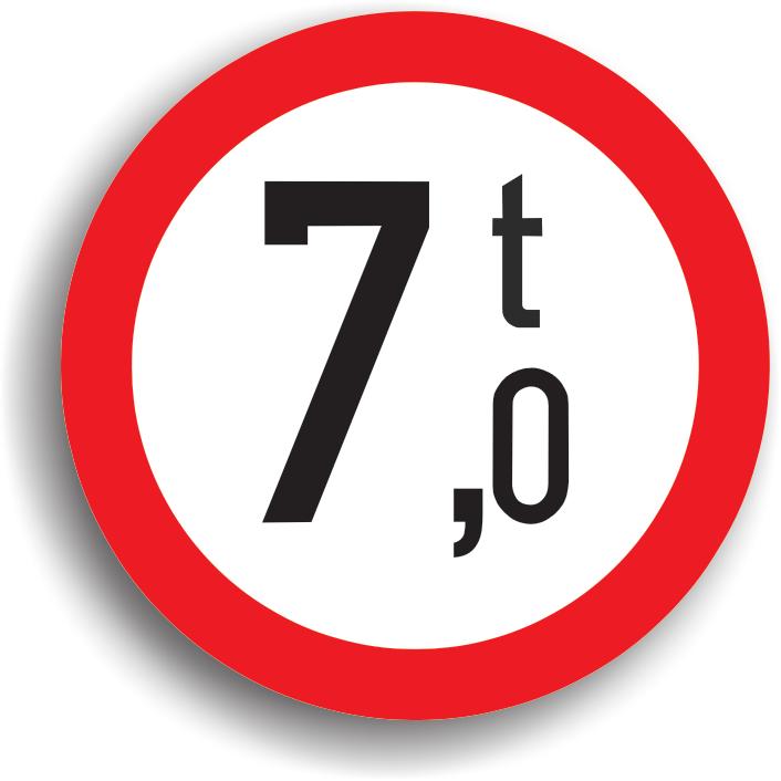 Accesul interzis vehiculelor cu masa mai mare de ... t
