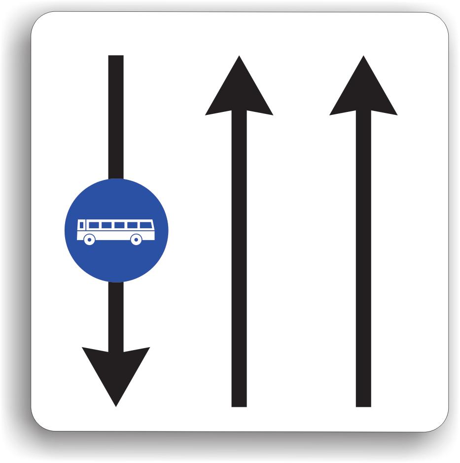 Banda de circulatie rezervata autovehiculelor de transport public de persoane