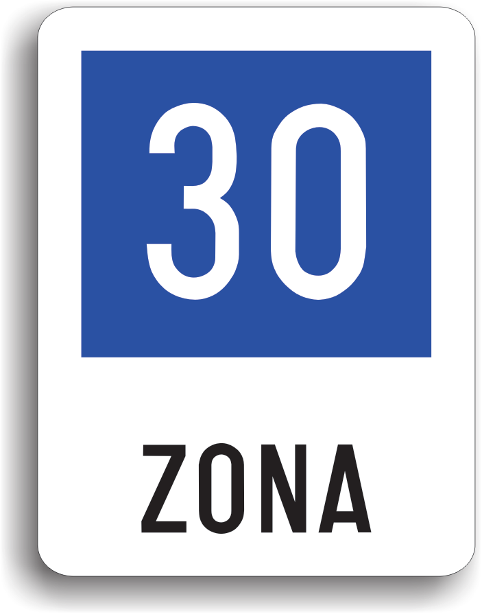 Zona cu viteza recomandata 30 km/h