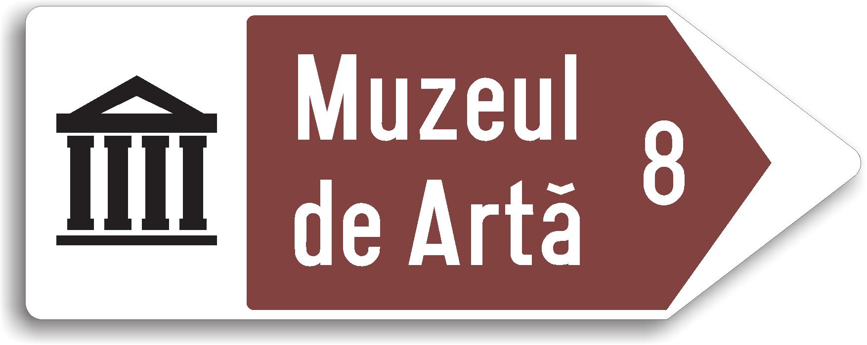 Directia spre obiectivul turistic