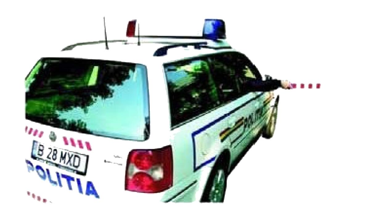 Semnalele politistului din masina de politie