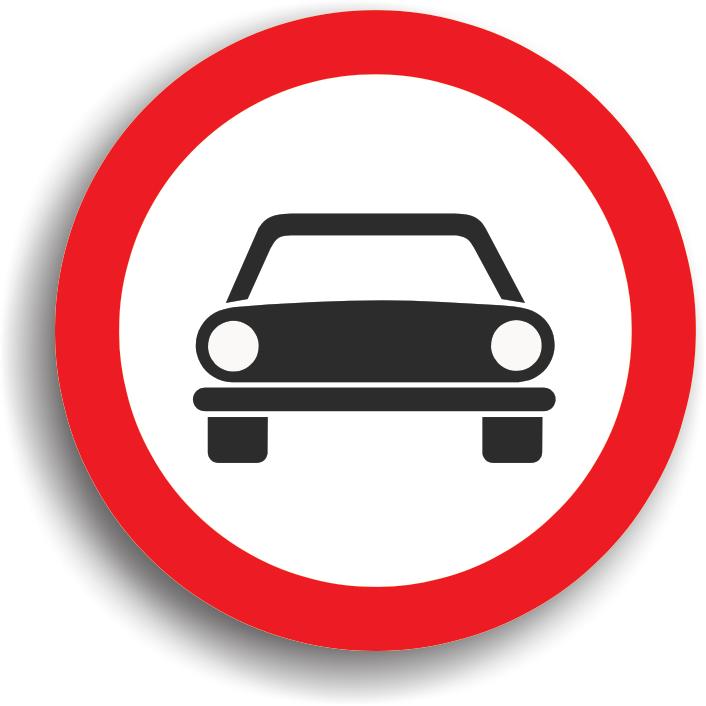 Accesul interzis autovehiculelor cu exceptia motocicletelor fara atas