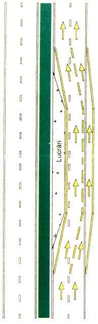 Marcaje temporare pentru semnalizarea lucrărilor în zona drumului public