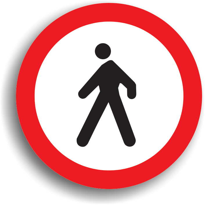 accesul interzis pietonilor