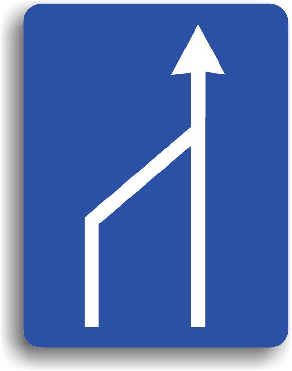 Terminarea benzii de circulatie din stanga a partii carosabile
