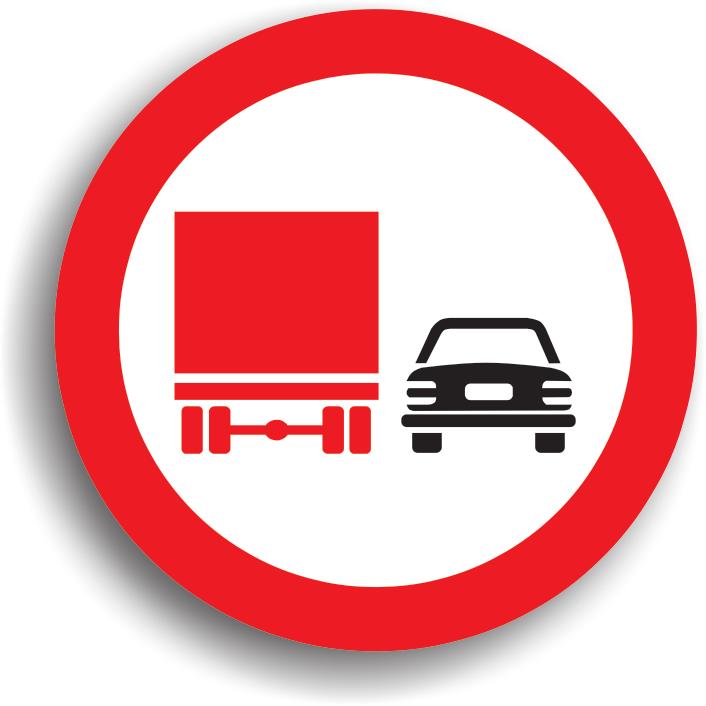 Depasirea interzisa autovehiculelor destinate transportului de marfuri