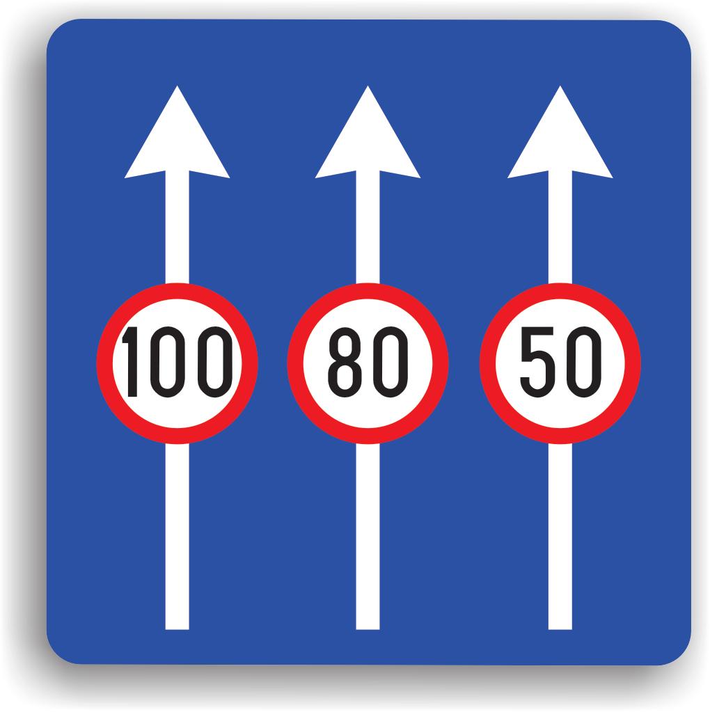 Limite de viteza pentru diferite benzi de circulatie