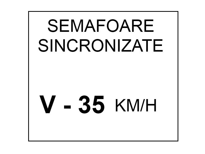 Viteza recomandata pe un sector de drum cu semafoare sincronizate