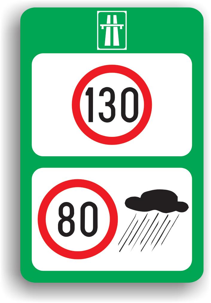 Limite maxime de viteza pe autostrada, in functie de conditiile meteorologice