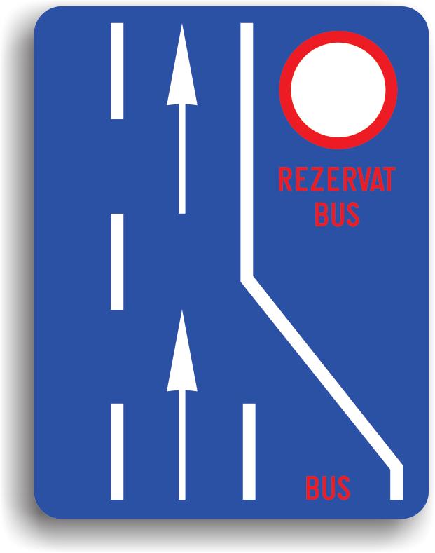 Banda rezervata circulatiei autovehiculelor de transport public de persoane