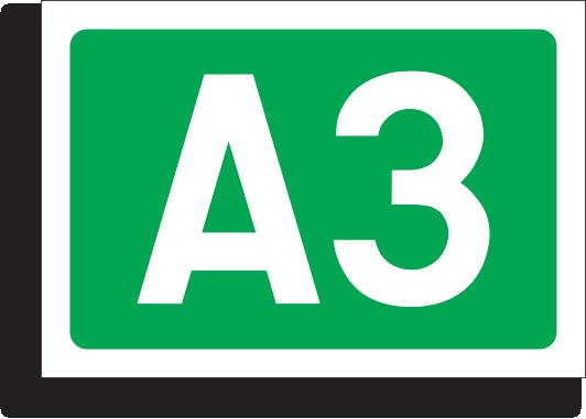 Simbolul si numarul autostrazii