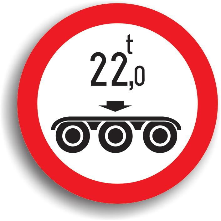 Accesul interzis vehiculelor cu masa pe osia tripla mai mare de ... t