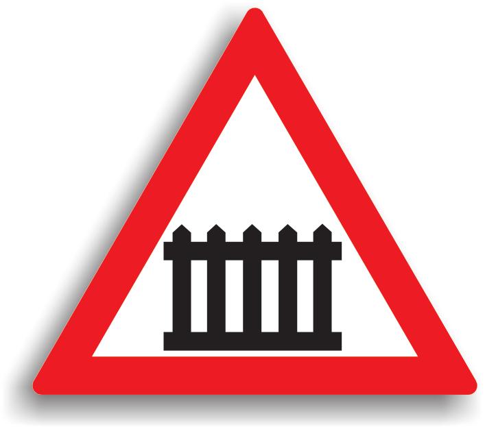 Trecere la nivel cu o cale ferata cu bariere sau semibariere