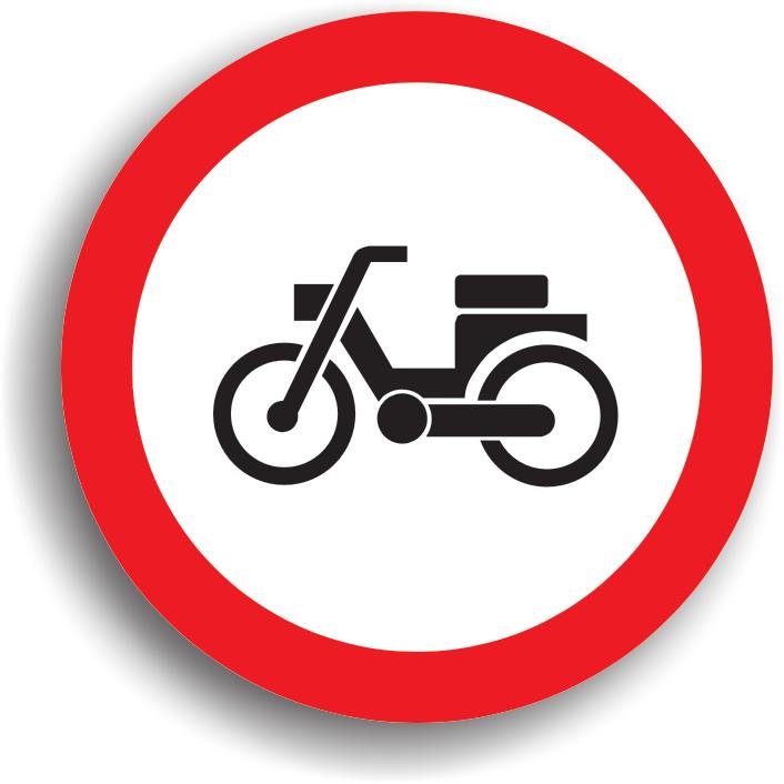 Accesul interzis mopedelor (ciclometrelor)