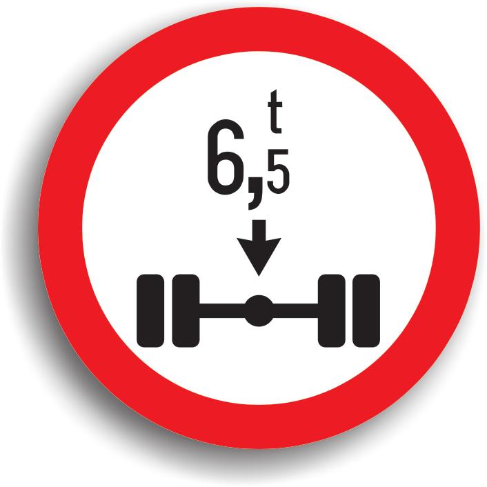 Accesul interzis vehiculelor cu masa mai mare de ... t pe osia simpla
