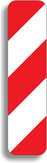 Baliza directionala care indica ocolirea obstacolului prin stanga