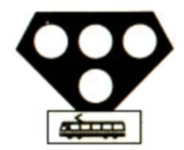 Semafor special pentru tramvaie