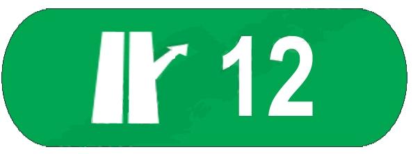 Numarul nodului rutier de pe autostrada